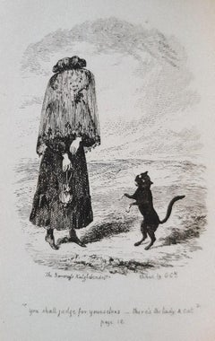 Cat's Tail - Rare Book Illustrated by G. Cruikshank - 1831