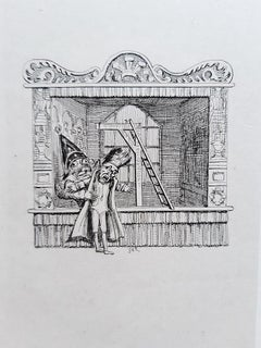 Illustrations to Punch and Judy - Rare Book Illustrated by G. Cruikshank - 1828
