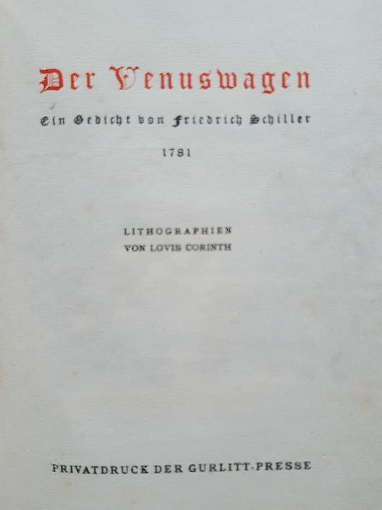 Venuswagen - Original Rare Book Illustrated by Lovis Corinth - 1919 For Sale 4