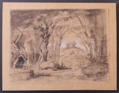 Landscape - Original Pencil Drawing on Paper - Early 20th Century