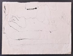 Female Nude - Original Pencil on Paper by Herta Hausmann - Mid-20th Century