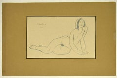 Naked Female - Original Pencil Drawing by Tibor Gertler - Mid-20th Century