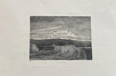 Novembre - Original Etching by Carlo Lovera, after Enrico Ghisolfi - 1870