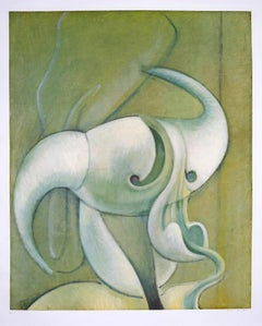 Tete d'Homme - Original Collotype Print by Max Ernst - 1971