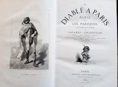 Le Diable à Paris - Rare Book Illustrated by Paul Gavarni - 1869