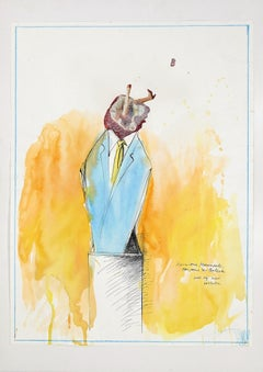 Mr Mercadet for pour le Ballet - Ink and Watercolor by S. Barletta - 2012