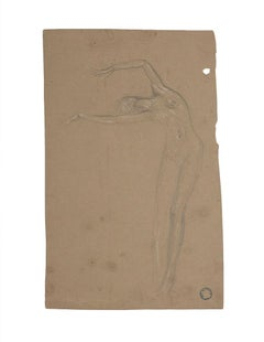 Nude of Woman - Original Pencil by Charles Lucien Moulin - Early 20th Century