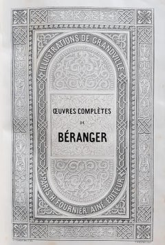 Oeuvres Complètes de Béranger - Rare Book by J.J Grandville - 1840