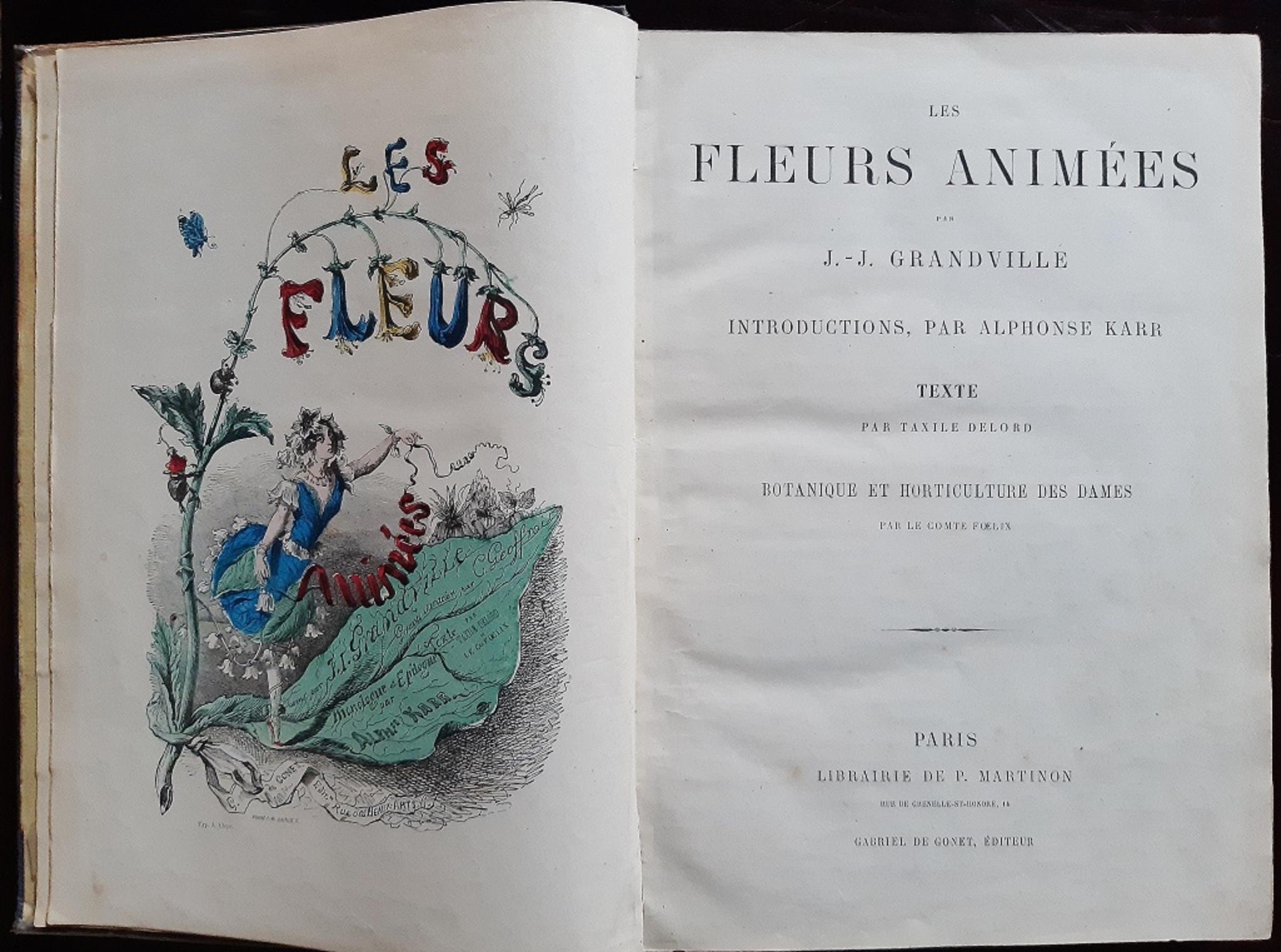Les Fleurs Animées - Rare Book by J.J Grandville - 1847