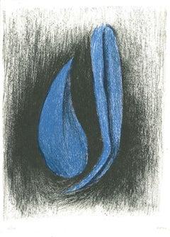 Heron - Original Lithograph by Nunzio Di Stefano - 1985