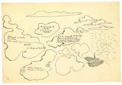 Pen Drawing - Original Pen Drawing by Leo Longanesi - 1937