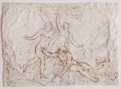 Figures - Original Pencil and Ink on Paper - 17th Century