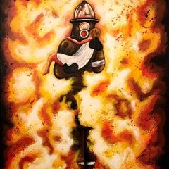 Man on Fire - Original Painting by Salvatore Petrucino - 2016