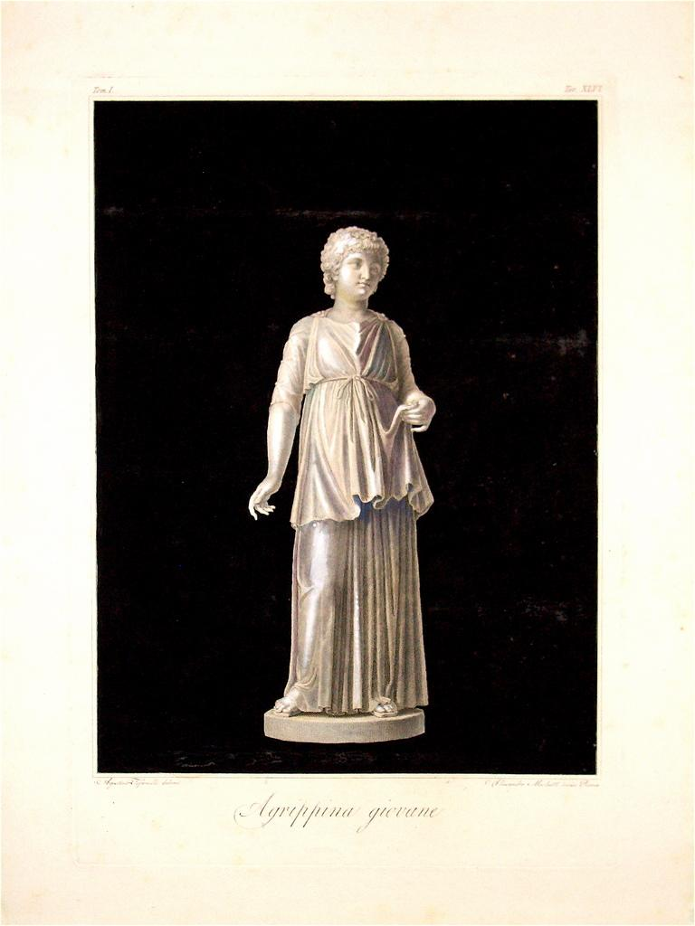 Young Agrippina - Original Etching by Agostino Tofanelli - 1821
