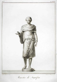 Minister of Sacrifices - Original Etching by Agostino Tofanelli - 1794