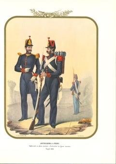 Artillery - Original Lithograph by Antonio Zezon - 1853