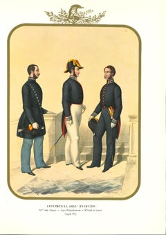 Intendency of the Army - Original Lithograph by Antonio Zezon - 1854