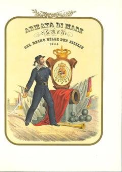 The Royal Navy - Original Lithograph by Antonio Zezon - 1854