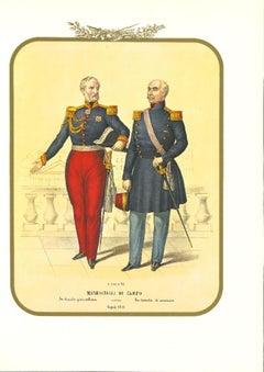 Field Marshals - Original Lithograph by Antonio Zezon - 1853