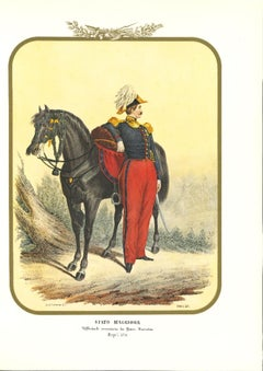 Major State - Original Lithograph by Antonio Zezon - 1854