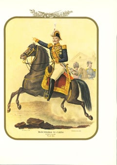 Field Marshal - Original Lithograph by Antonio Zezon - 1853