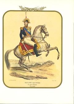Lieutenant General - Original Lithograph by Antonio Zezon - 1855