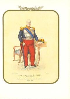 Leopoldo Borbone - Original Lithograph by Antonio Zezon - 1853