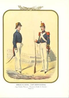 Navy: Navy Craftsmen - Original Lithograph by Antonio Zezon - 1855