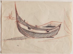 Boats - Original Pencil and Pastel - Early 20th Century