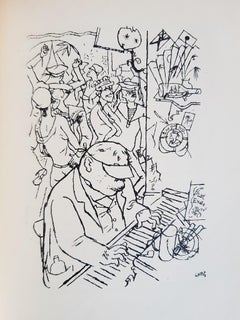 Port d'Eaux Mortes - Rare Book illustrated by George Grosz - 1926