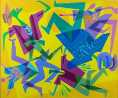 Accident - Original Acrylic on Canvas by Leo Guida - 1992