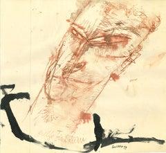 Portrait of Guelfo Bianchini - Original Drawing by by Sergio Barletta - 1959