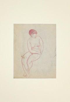Nude of woman - Original Drawing - 1890 ca.