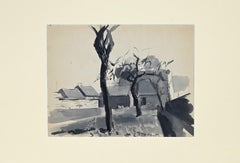 Figure - Original Watercolor and Pencil by Raymond Cazanove - 1922
