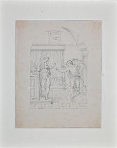 The Announcement -  Original Drawing by Giovanni Fontana - 16th Century