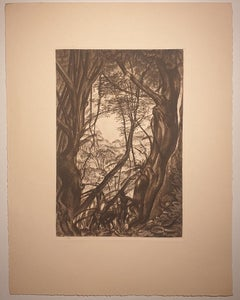Africa - Into the Forest - Original Lithograph by Emmanuel Gondouin - 1930s