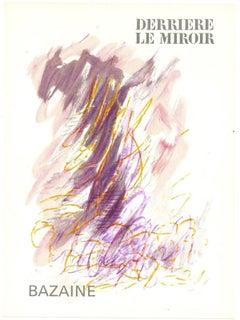 Cover For Derrière Le Miroir - Original Lithograph by Jean René Bazaine - 1968