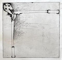 Bolt Cutters - Original Etching by Jim Dine - 1973