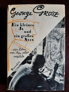 Ein Kleines Ja und Ein Gros - Rare Book Illustrated by George Grosz - 1955