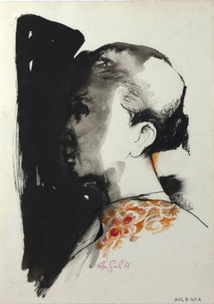 Matador 5 - Original Mixed Media Drawing by Leo Guida - 1964