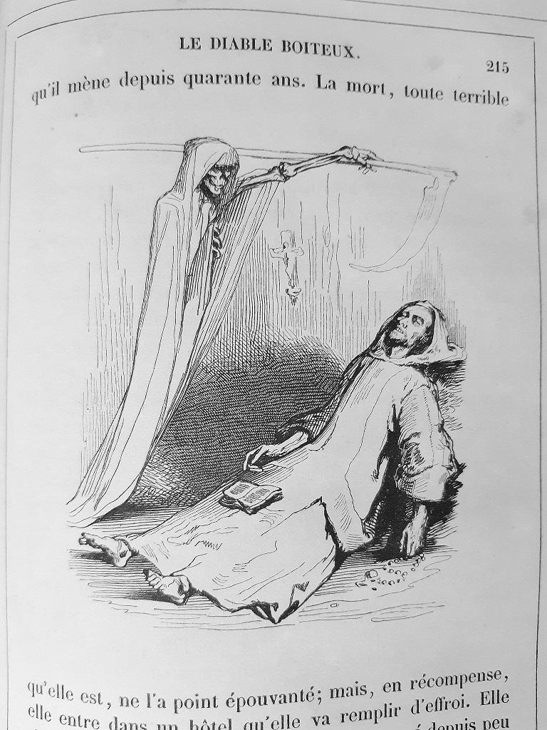 Le Diable Boiteux - Rare Book Illustrated by Tony Johannot - 1840 For Sale 3