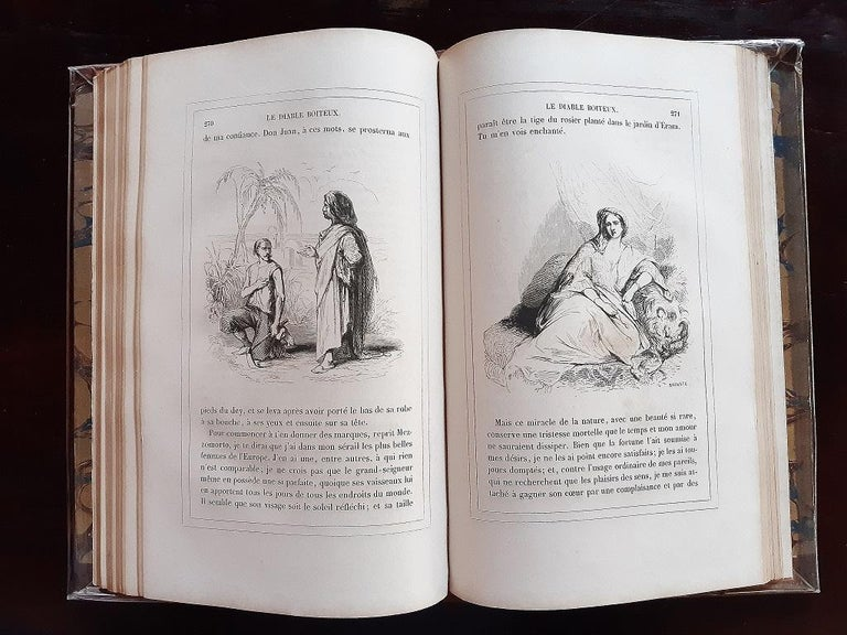 Le Diable Boiteux - Rare Book Illustrated by Tony Johannot - 1840 For Sale 2