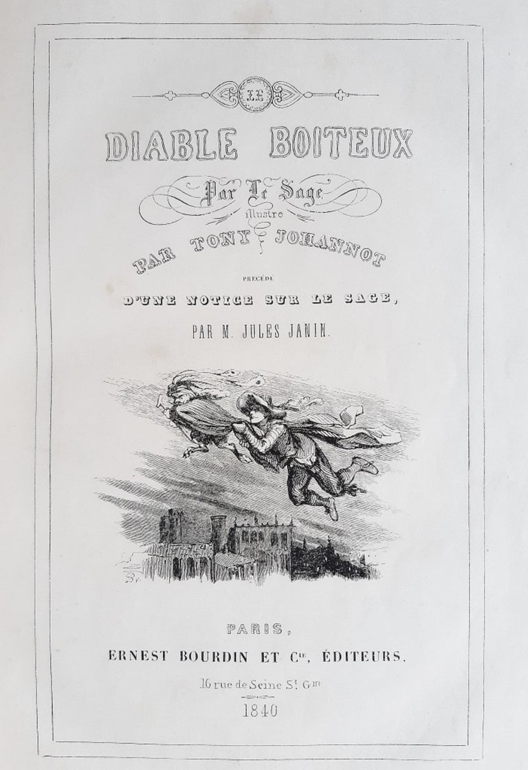Le Diable Boiteux - Rare Book Illustrated by Tony Johannot - 1840 For Sale 1