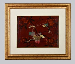 Oriental Composition - Original Japanese Enamels Panel - Early 20th century
