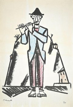 Piper - Original Lithograph by Pietro Morando - 1960s