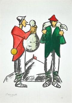 Shepherd - Original Lithograph by Pietro Morando - 1960s