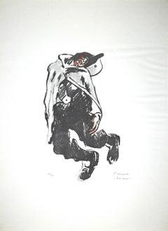 Red Rice - Original Lithograph by P. Morando - 1950s