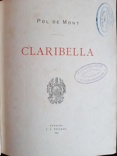 Claribella- Rare book Illustrated by Fernand Edmond Jean Marie Khnopff - 1893