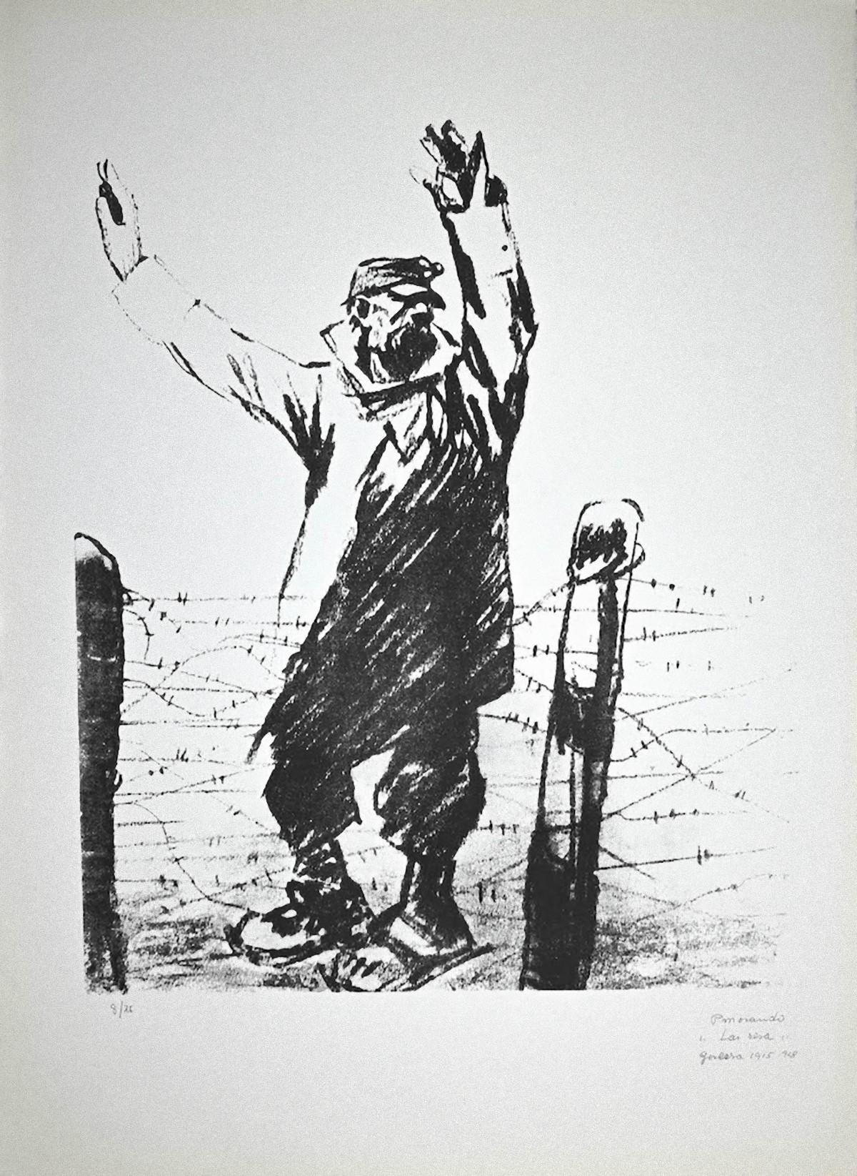 The Surrender - Original Lithograph by Pietro Morando - 1950s