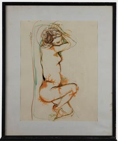 Nude - Original Watercolor by Leo Guida - 1963
